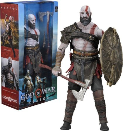 Action Figure God of War Kratos Escala 1/10 Pizii Toys Neca