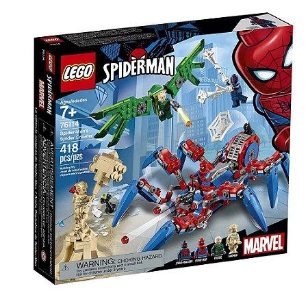 Lego Super Heros Homem Aranha Aranha Robô 418 Pçs 76114