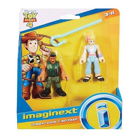 Brinquedo Toy Story 4 Combate Carl e Bo Peep Imaginext Gbg89
