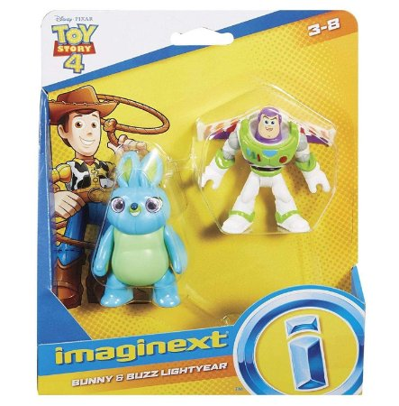 Brinquedo Toy Story 4 Bunny e Buzz Lightyear Imaginext Gbg89