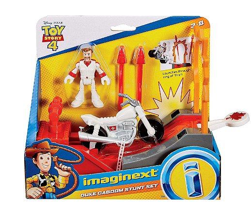 Brinquedo Boneco Duke Caboom Manobra de Açao Imaginext Gbg71