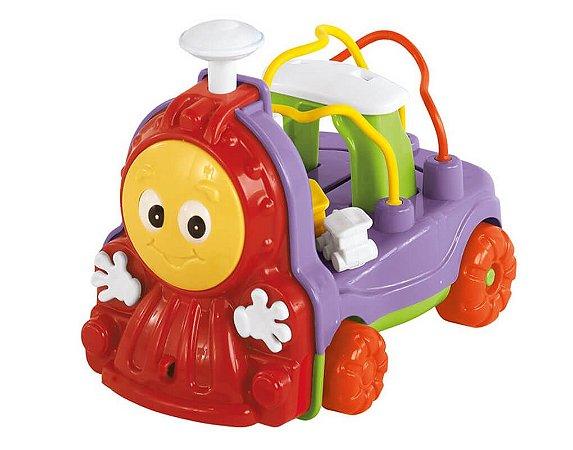 Novo Brinquedo Trenzinho Donka Vermelho com Som Calesita 711