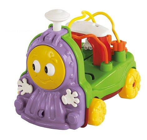 Novo Brinquedo Trenzinho Donka Roxo com Som Calesita 711