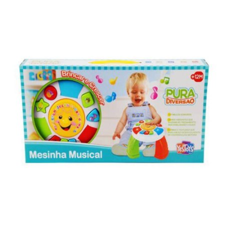 Brinquedo Mesinha Musical Pura Diversão Yes Toys 20089