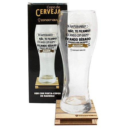 Copo De Vidro Copão de Chope Cerveja To Ficando 680ml