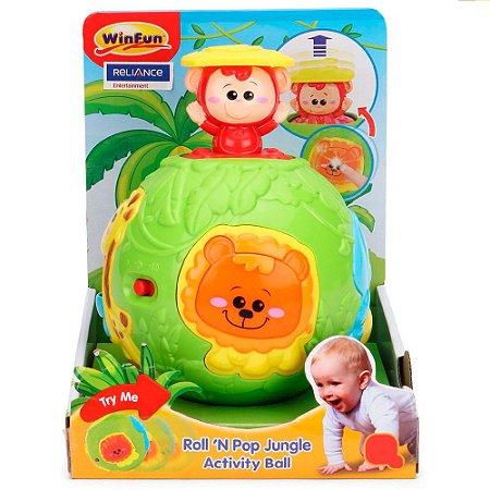 Brinquedo Bola Divertida Amiguinhos Da Selva WinFun 0778