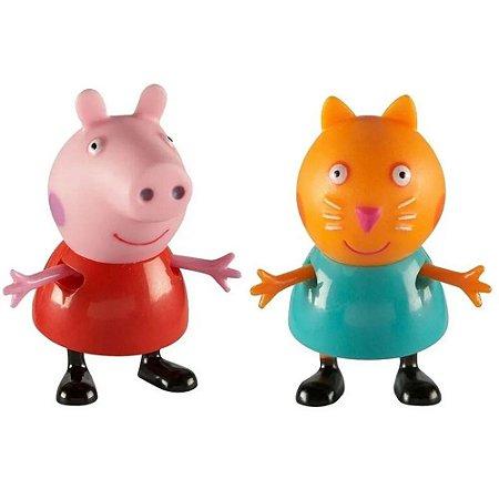 Bonecos Pim Pam Pum Peppa Pig e seus Amigos Peppa e Candy