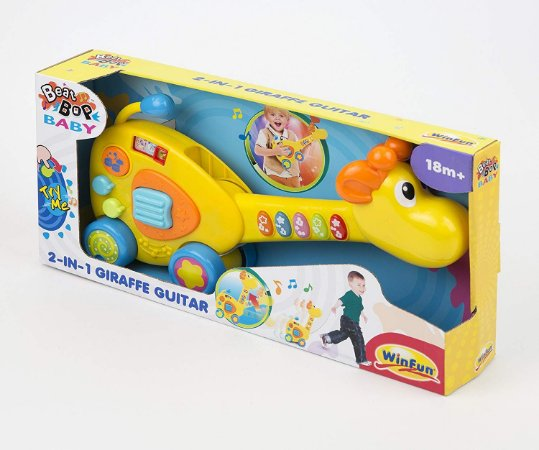 Brinquedo Infantil Guitarra Girafa 2 Em 1 WinFun 2088