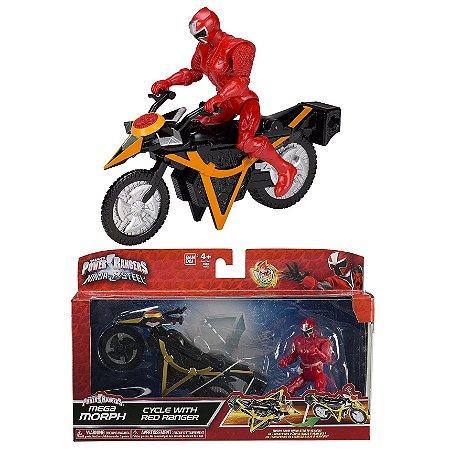 Power Ranger Ninja Steel Vermelo Veiculo Morfador Sunny 1824