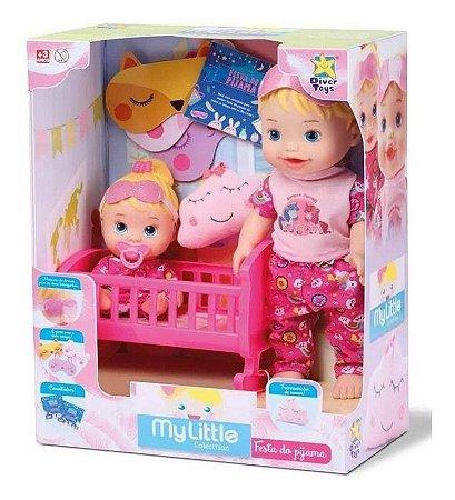 My Little Collection Brincando De Pijama 2 Bonecas Divertoys