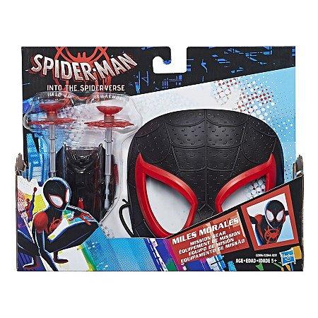 Brinquedo Mascara com Lança Teias Miles Morales Hasbro E2844