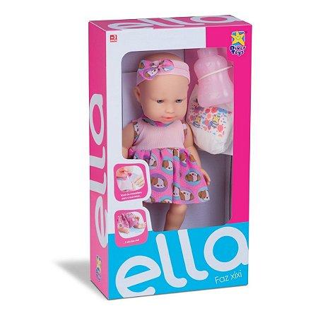 Boneca Ella Faz Xixi Com Acessórios Divertoys 8039
