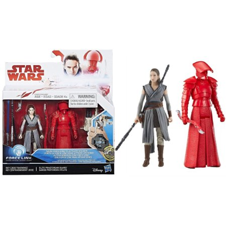 Novo Star Wars Force Link Rey e Elite Guard Hasbro C1242