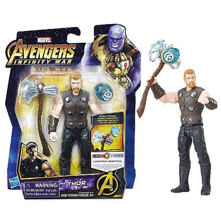 Novo Boneco Marvel Vingadores Thor com Joia Hasbro E0605