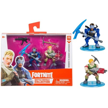 Pack 2 Figuras Fortnite Sergeant Jonesy e Carbide Fun 84707
