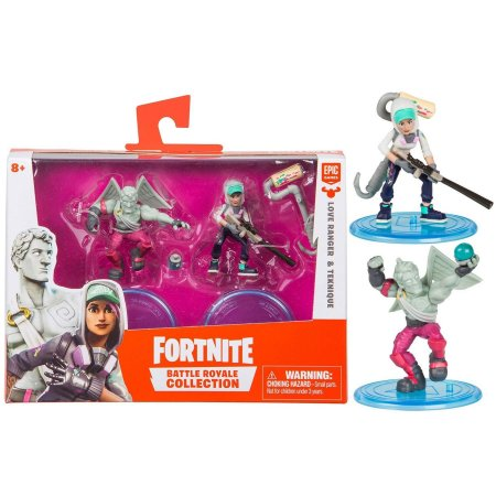 Pack 2 Figuras Fortnite Love Ranger e Teknique Fun 84707