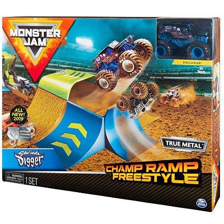 Brinquedo Playset Pista Monster Jam com Carro Sunny 2021