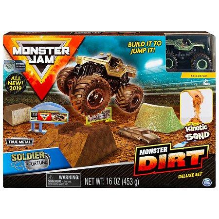 Monster Jam Soldier Fortune Monster Dirt Deluxe Sunny 2024