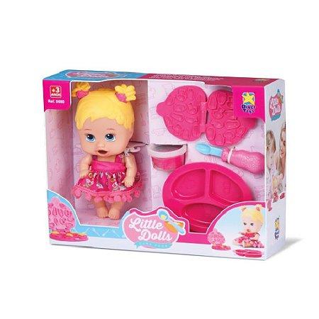 Boneca Little Dolls Come Come Loira Divertoys 8025