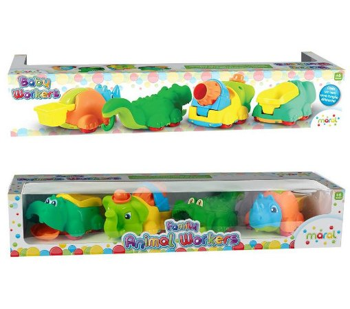 Brinquedo Infantil Family Animal Workers Caixa Maral 3071