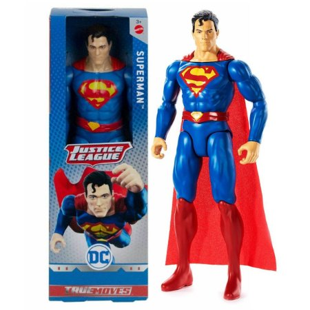 Brinquedo Liga da Justiça Superman Articulado Mattel Gdt49