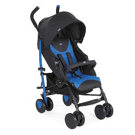 Carrinho de Bebê com Bumper Bar Echo Azul Chicco 53263
