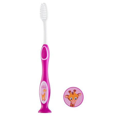 Escova de Dentes Infantil Milk Teeth 3-6 anos Rosa Chicco