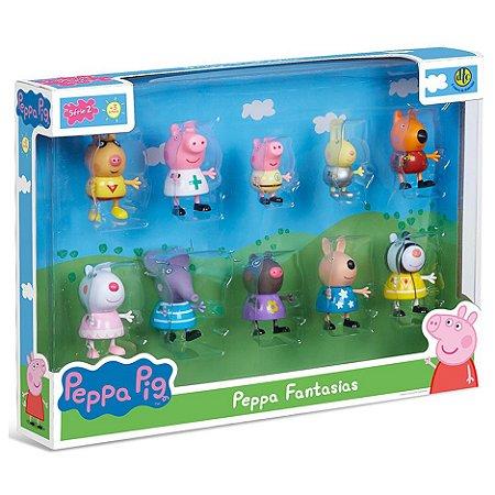 Bonecos Peppa Pig e Amigos Peppa Fantasias Serie 2 Dtc 4859
