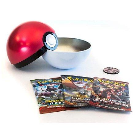 Pokemon Lata Porta Cards Pokebola Grande Normal Tcg Copag
