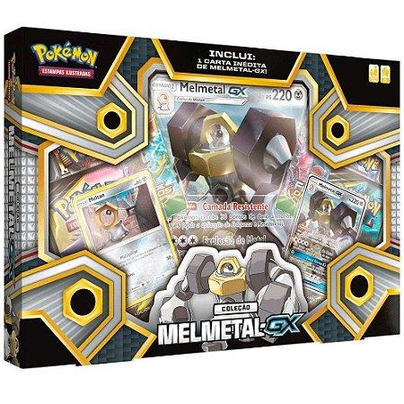 Box de Cartas Pokemon Tcg Coleção Meltan e Melmetal Gx Copag