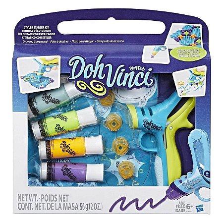 Brinquedo Doh Vinci Kit Básico Iniciante Styler Hasbro B8956