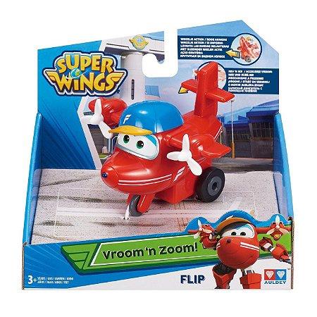 Brinquedo Super Wings Vroom n Zoom Aviao Flip Fun 80140