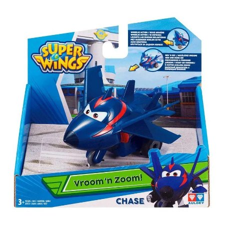 Brinquedo Super Wings Vroom n Zoom Agent Chace Fun 80140