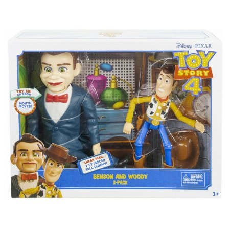 Bonecos Disney Pixar Toy Story 4 Benson e Woody Mattel Ggj89