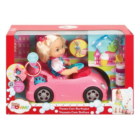 Boneca Little Mommy Passeio com Bolhas com Sons Mattel Gfj09