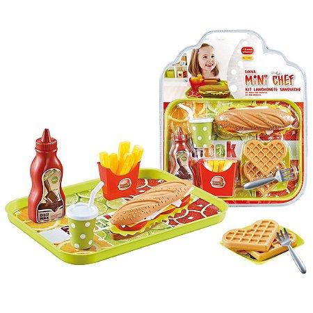 Brinquedo Kit Lanchonete Sanduiche Mini Chef Xalingo 11454