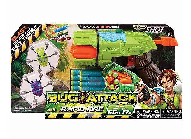 Lançador De Dardos Bug Attack Rapid Fire Candide 5501
