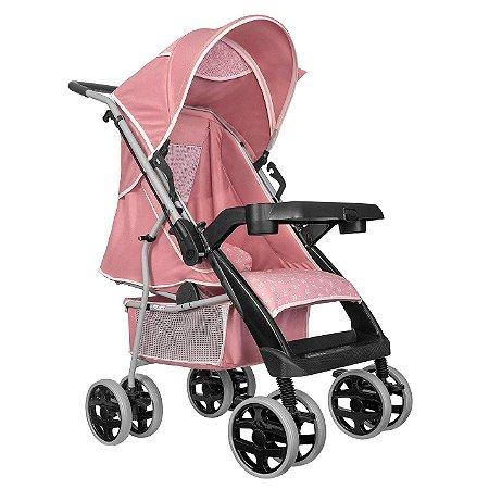 Carrinho de Passeio Bebe Thor Plus Rosa Coroa Tutti Baby