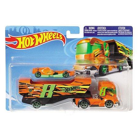 Hot Wheels Caminhões de Transporte Veiculo BigRig Heat Bdw51