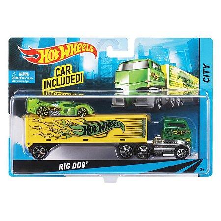 Hot Wheels Caminhões de Transporte Veiculo Rig Dog Bdw51