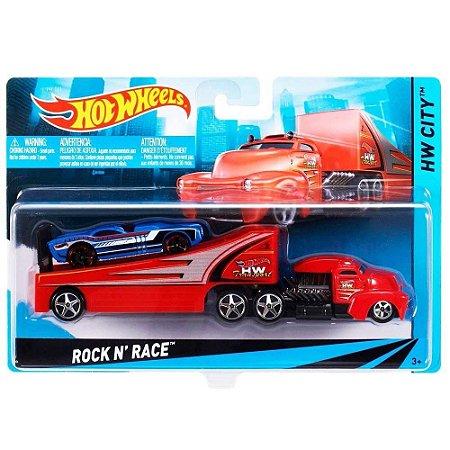 Hot Wheels Caminhões de Transporte Veiculo Rock n Race Bdw51