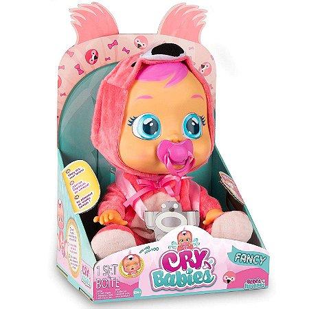 Boneca Cry Babies Flamy Chora de Verdade Multikids BR121