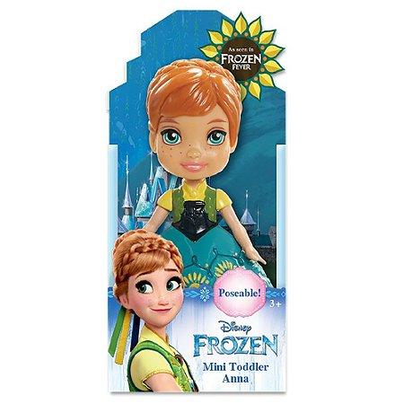 Boneca Mini Toddler Anna Frozen Fever Disney Sunny 1262