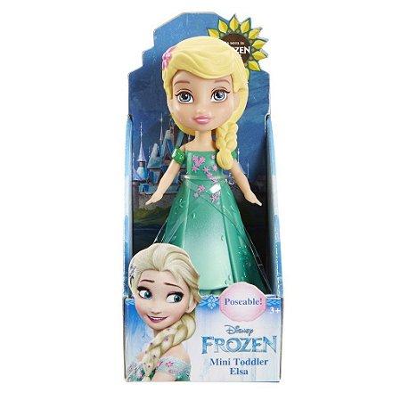 Boneca Mini Toddler Elsa Frozen Fever Disney Sunny 1262