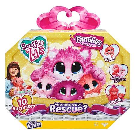 Brinquedo Fur Balls Pets Adotados Familia Surpresa Fun 84487