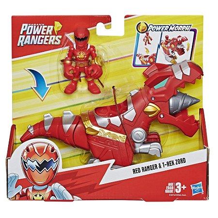 Boneco Power Rangers Red Ranger e T-Rex Zord Hasbro E5866