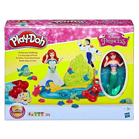 Play Doh Princesas Disney Casamento no Fundo do Mar E0373