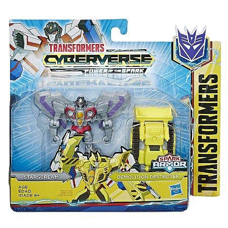 Transformers Spark Starscream e Demolition Destroyer E4219