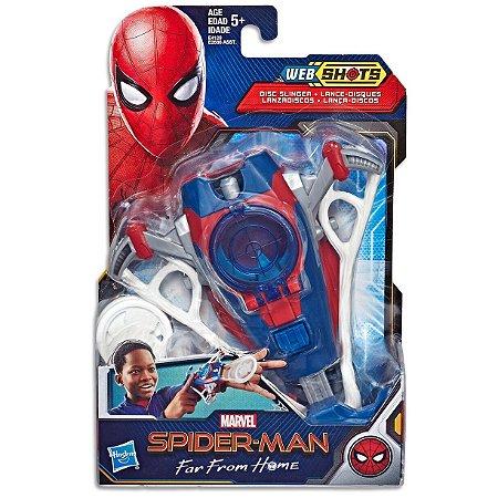 Lançador Web Shots Lança Discos Homem Aranha Hasbro E3566