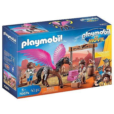 Brinquedo Playmobil O Filme Marla e Del com Pegasus 70074
